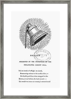 Liberty Bell, 1839 Framed Print by Granger