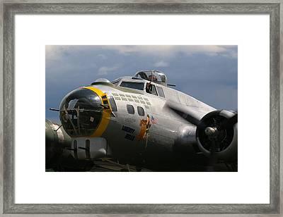Liberty Belle B17 Bomber Framed Print by Ken Brannen
