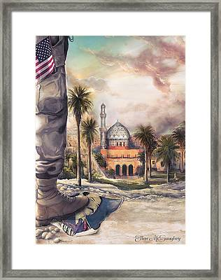 Liberty Framed Print by Ellen Mcgaughey