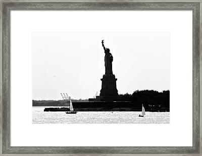 Liberty Island Framed Print by Artistic Photos