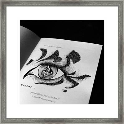 Libro Di Artista Framed Print by Arte Venezia