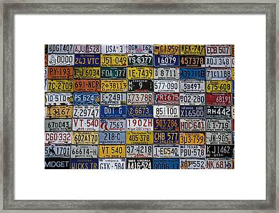 License Plates Framed Print by Garry Gay