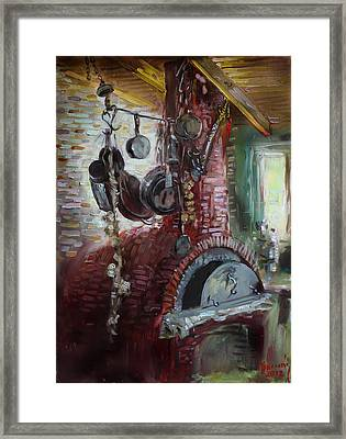 Greek Furno  Framed Print by Ylli Haruni