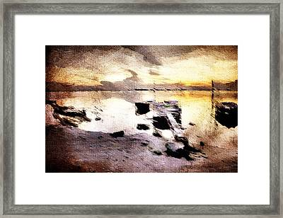 Framed Print featuring the digital art Lido by Andrea Barbieri