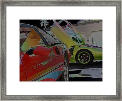 Framed Print featuring the photograph Liechten Wagons by Carolina Liechtenstein