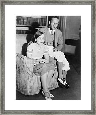 Lieutenant And Mrs. Thomas H. Massie Framed Print by Everett