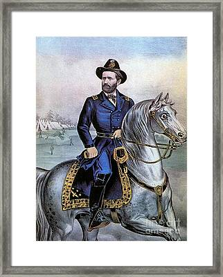 Lieutenant General Ulysses S Grant Framed Print by Photo Researchers