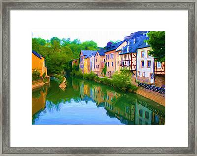 Life Along The Alzette River Framed Print