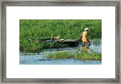 Framed Print featuring the photograph Life Along The Nile by Vivian Christopher