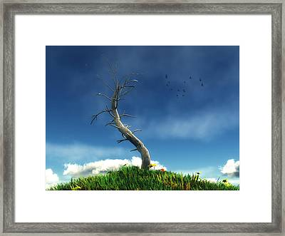 Life And Death... Framed Print