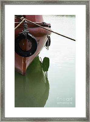 Framed Print featuring the photograph Life-boat Reflection by Agnieszka Kubica