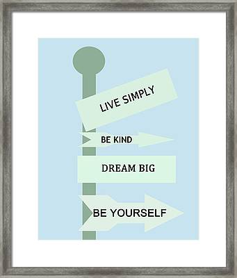 Life Directions Framed Print
