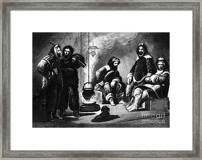 Life In The Arctic, 19th Century Framed Print by Science Source