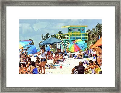 Life Is A Beach Framed Print by Dieter  Lesche
