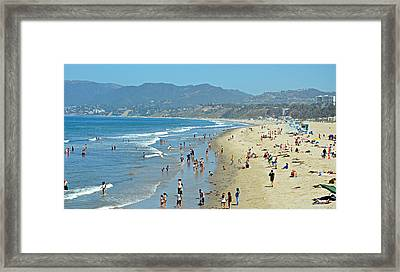 Life Is A Beach Framed Print by Fraida Gutovich