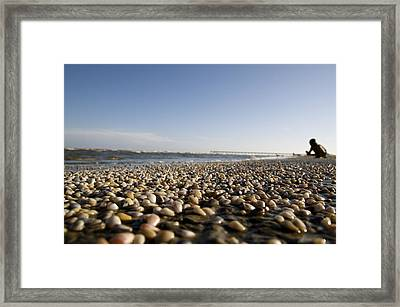 Life Is A Beach Framed Print by Snow White