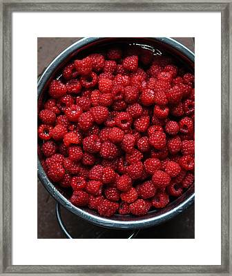 Life Is A Bowl Of Raspberries Framed Print by Ronda Broatch