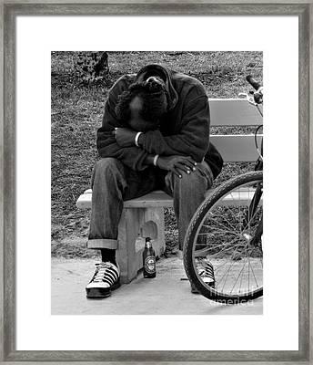 Life Is Hard Framed Print by Barbara McMahon