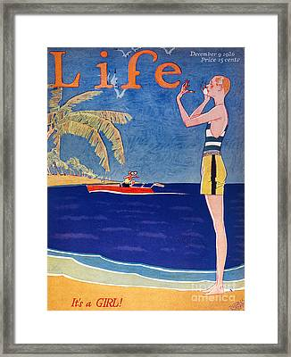 Life: Its A Girl, 1926 Framed Print