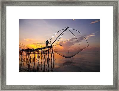 Life Lake Framed Print