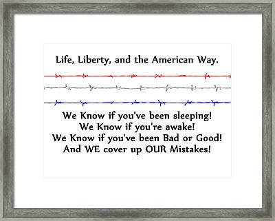 Life Liberty And The American Way 2 Framed Print by Bruce Iorio