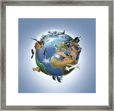 Life On Earth, Conceptual Image Framed Print