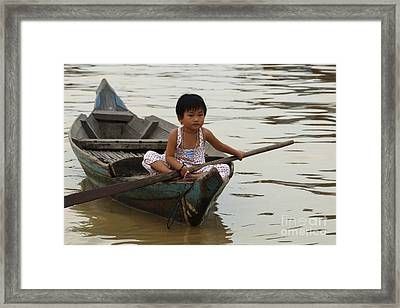 Life On Lake Tonle Sap 2 Framed Print
