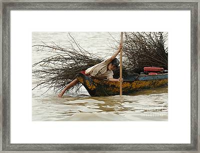 Life On Lake Tonle Sap 3 Framed Print