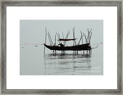 Life On Lake Tonle Sap  Framed Print