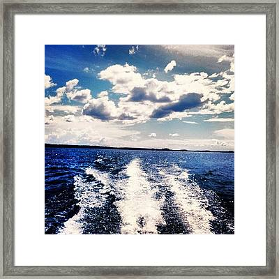 Life On The Lake. Framed Print
