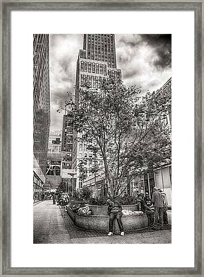 Framed Print featuring the photograph Life On The Street by Steve Zimic