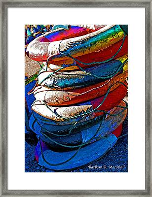 Framed Print featuring the photograph Life Preservers by Barbara MacPhail