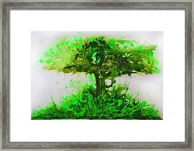 Framed Print featuring the painting Life Tree by Lolita Bronzini