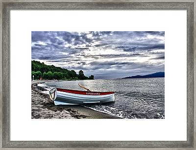 Framed Print featuring the photograph Lifeboat by Scott Holmes