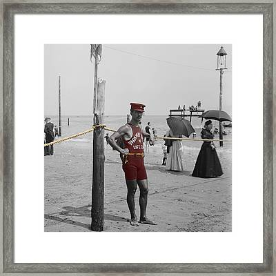 Lifeguard Framed Print by Andrew Fare
