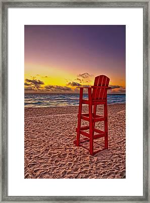 Lifeguard Chair Framed Print by Brian Mollenkopf