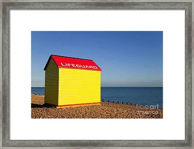 Lifeguard Hut Framed Print by Richard Thomas