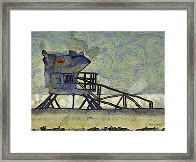Lifeguard Station 17 Framed Print by Ernie Echols