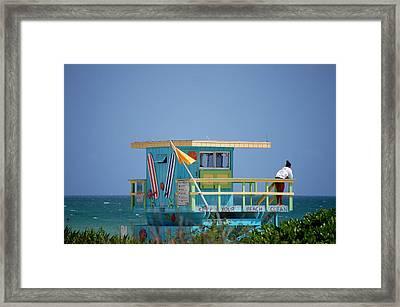 Lifeguard Tower Framed Print by Ama Arnesen
