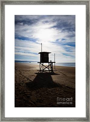 Lifeguard Tower Newport Beach California Framed Print by Paul Velgos