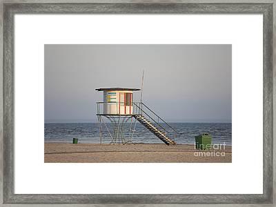 Lifeguard Tower On The Beach Framed Print