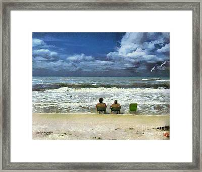 Framed Print featuring the digital art Life's A Beach by Rhonda Strickland