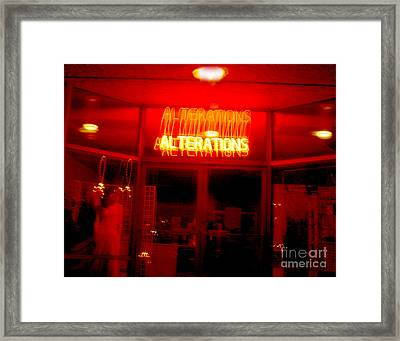 Life's Little Alteration Framed Print by Peter Piatt
