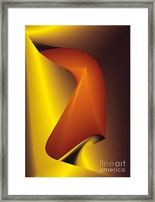 Framed Print featuring the digital art Lift The Veil Secrecy by Leo Symon