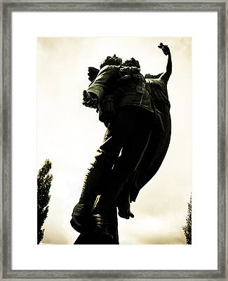 Lifted Up To Heaven Framed Print by Michael Knight