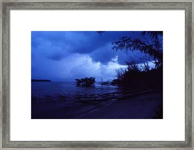 Lifting Storm Framed Print by Bob Whitt