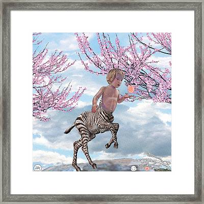 Liger  Pluck Framed Print by David Starr