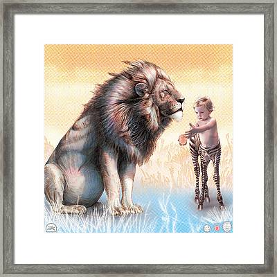 Liger  The Gift Framed Print by David Starr