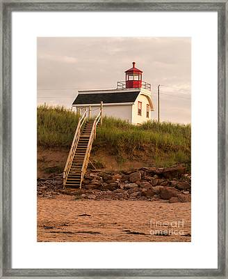 Lighhouse Cousins Shore Pei Framed Print