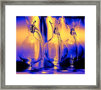 Light And Colors Play I Framed Print by Jenny Rainbow